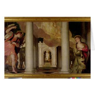 El anuncio, c.1551-53 (aceite en lona) tarjeta de felicitación