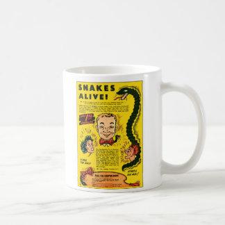 El anuncio cómico del kitsch retro del vintage taza clásica