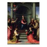El anuncio con los santos, 1515 postal