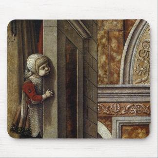 El anuncio con St. Emidius, 1486 Alfombrillas De Ratón