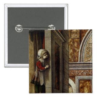 El anuncio con St. Emidius, 1486 Pin Cuadrado