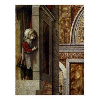 El anuncio con St. Emidius, 1486 Postales