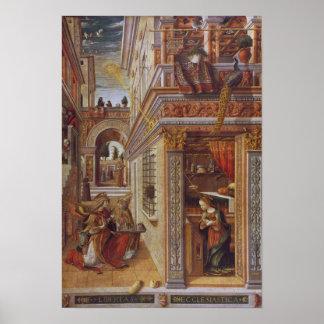 El anuncio con St. Emidius, 1486 Póster