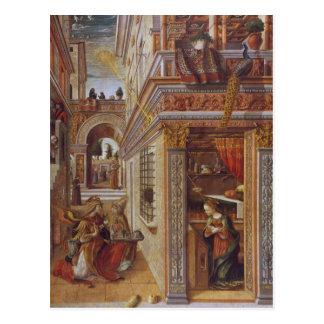 El anuncio con St. Emidius, 1486 Tarjeta Postal