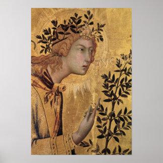 El anuncio con St Margaret Póster