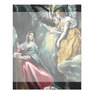 """El anuncio de El Greco Folleto 4.5"""" X 5.6"""""""