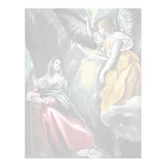 El anuncio de El Greco Plantilla De Membrete