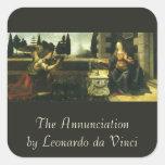 El anuncio de Leonardo da Vinci Colcomanias Cuadradass