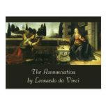 El anuncio de Leonardo da Vinci Postal