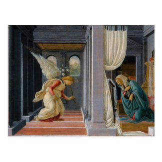 El anuncio de Sandro Botticelli Tarjeta Postal