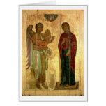 El anuncio de Ustiug, c.1130-40 (tempera en la cac Tarjeton