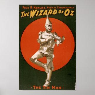 El anuncio del hombre de la lata de mago de Oz Poster