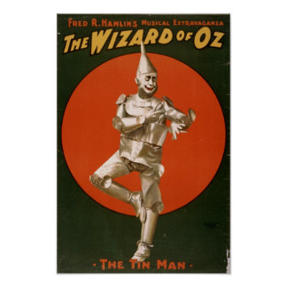 El anuncio del hombre de la lata de mago de Oz Póster
