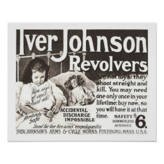 El anuncio del revólver del vintage no intenta póster
