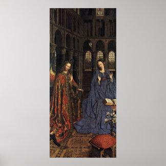 El anuncio en enero van Eyck Posters