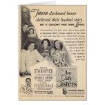 El anuncio gay 1942 de la película de las hermanas felicitación