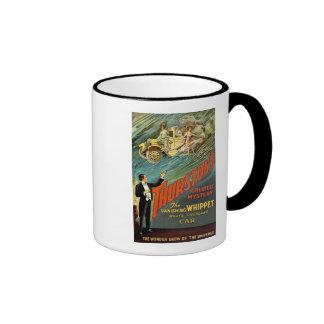 El anuncio más grande del vintage del misterio de  taza a dos colores