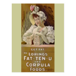 El anuncio para consigue los cuadros gordos 1895 d tarjetas postales