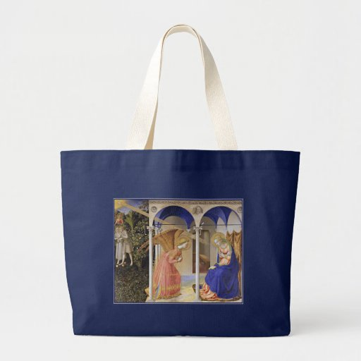 El anuncio por Fra Angelico Bolsa Tela Grande