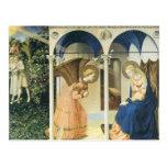 El anuncio por Fra Angelico Postales