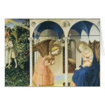 El anuncio por Fra Angelico Tarjeta