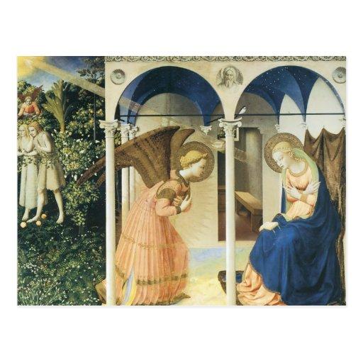El anuncio por Fra Angelico Tarjetas Postales