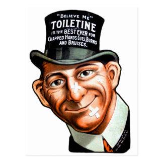 El anuncio Toiletine del kitsch del vintage corta Postal