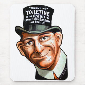 El anuncio Toiletine del kitsch del vintage corta Tapetes De Ratón