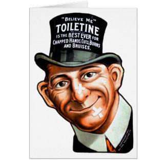 El anuncio Toiletine del kitsch del vintage corta Tarjeta De Felicitación