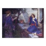 El anuncio una tarjeta de Navidad del ángel