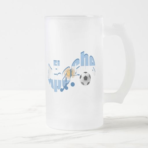 El Apache Argentina Fútbol lovers fans gifts Frosted Glass Beer Mug