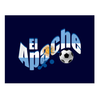 El Apache Argentina Fútbol lovers fans gifts Postcard