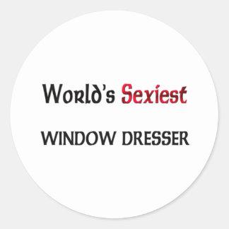 El aparador de la ventana más atractivo del mundo pegatina redonda