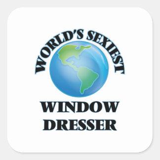 El aparador de la ventana más atractivo del mundo pegatina cuadrada