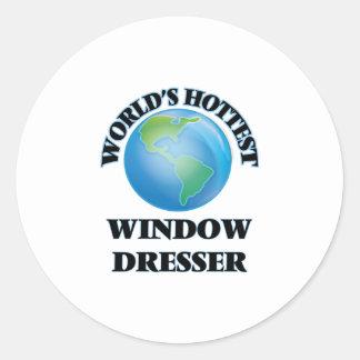 El aparador de la ventana más caliente del mundo pegatina redonda