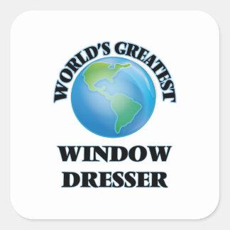 El aparador de la ventana más grande del mundo pegatina cuadrada