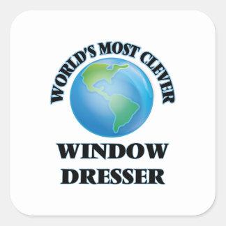 El aparador de la ventana más listo del mundo pegatina cuadrada