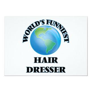 El aparador más divertido del pelo del mundo invitación 12,7 x 17,8 cm