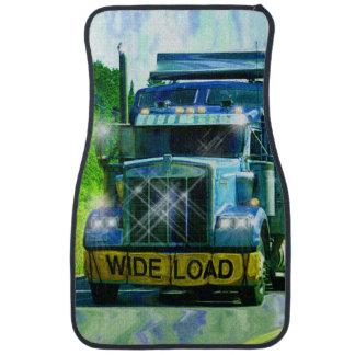 El aparejo grande del andamio del camionero azul alfombrilla de auto
