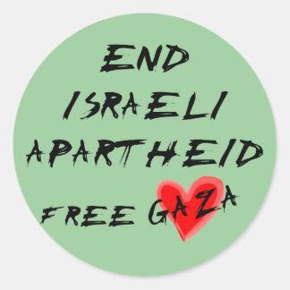 El apartheid israelí del final libera Gaza Etiquetas Redondas