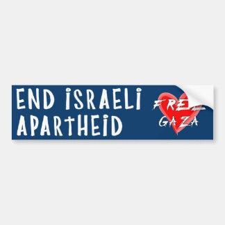 El apartheid israelí del final libera Gaza Pegatina Para Auto