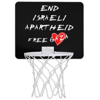 El apartheid israelí del final libera Gaza Tablero De Baloncesto Mini