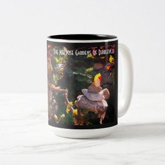 El apilador de la roca taza de café de dos colores