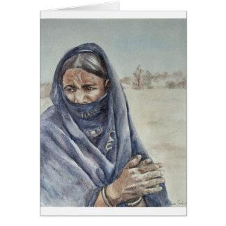 El aplaudir de la mujer del Tuareg Tarjeta De Felicitación