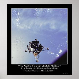 """El Apolo 9 módulo lunar """"araña"""" el 7 de marzo de 1 Póster"""