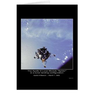 """El Apolo 9 módulo lunar """"araña"""" el 7 de marzo de 1 Tarjeta De Felicitación"""