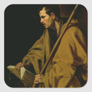 El apóstol St Thomas, c.1619-20 Pegatina Cuadrada