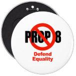 El APOYO ANTI 8 - defienda la igualdad Pin