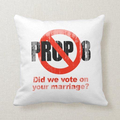 El APOYO ANTI 8 - hicimos votamos sobre su boda Fa Almohada