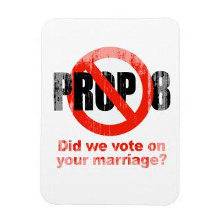 El APOYO ANTI 8 - hicimos votamos sobre su boda Fa Imanes De Vinilo